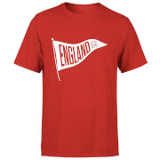 T-Shirt Homme Fanion Anglais Football - Rouge