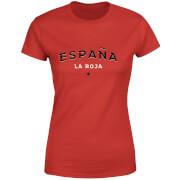 T-Shirt Femme España La Roja Football - Rouge