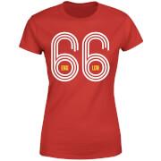 T-Shirt Femme England 66 Football - Rouge