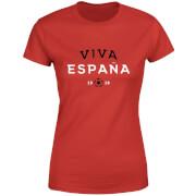 T-Shirt Femme Viva España Football - Rouge