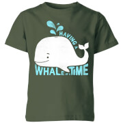 My Little Rascal Having A Whale Of A Time Kids' T-Shirt - Forest Green