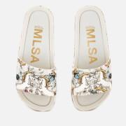 Melissa Women's Beach Slide Rainbow 20 Sandals - White Unicorn
