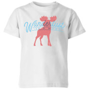 Wanderlust Is A Must Kids' T-Shirt - White