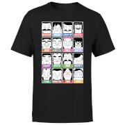 Bob's Burgers Propaganda Faces Men's T-Shirt - Black