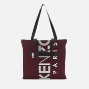 KENZO Women's Logo Nylon Tote Bag - Burgundy