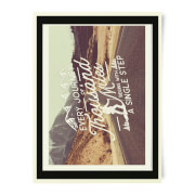 Every Journey Begins With A Single Step A3 Print Art Print