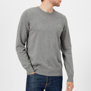 Lacoste Men's Cotton Crew Neck Knitted Jumper - Galaxite Chine/Flour