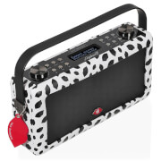 VQ Hepburn Mk II DAB & DAB+ Digital Radio with FM, Bluetooth & Alarm Clock - Lulu Guinness Black Lips