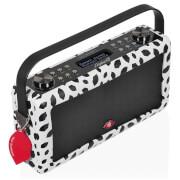 VQ Hepburn Mk II DAB & DAB+ Digital Radio with FM, Bluetooth & Alarm Clock - Lulu Guinness Black Lips