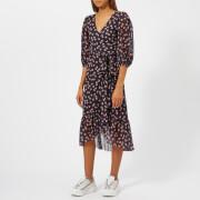 Ganni Women's Tilden Mesh Short Dress - Total Eclipse