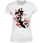 Marvel Knights Daredevil Layered Faces Women's T-Shirt - White