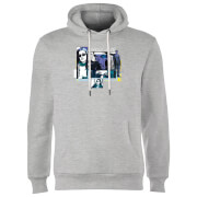 Marvel Knights Jessica Jones Comic Panels Hoodie - Grey