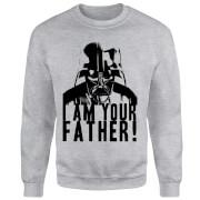 Star Wars Darth Vader I Am Your Father Confession Sweatshirt - Grey