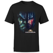 Marvel Thor Ragnarok Hulk Split Face Men's T-Shirt - Black