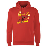 Sweat à Capuche Homme Deadpool Suns Out Guns Out Marvel - Rouge