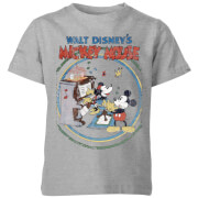 Disney Retro Poster Piano Kids' T-Shirt - Grey