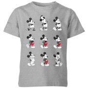 Disney Evolution Nine Poses Kids' T-Shirt - Grey