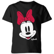 Disney Minnie Face Kids' T-Shirt - Black