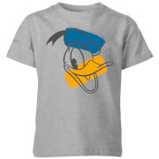Disney Donald Duck Head Kids' T-Shirt - Grey