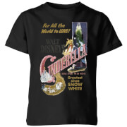 Disney Disney Princess Cinderella Retro Poster Kids' T-Shirt - Black