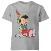 Disney Pinocchio Classic Kids' T-Shirt - Grey