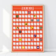 100 Craft Beer Bucket List Poster