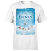 Frozen Snow Poster Men's T-Shirt - White