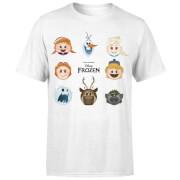 Frozen Emoji Heads T-shirt - Wit