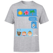 Frozen I Love Heat Emoji Men's T-Shirt - Grey