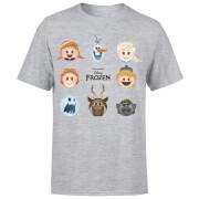 T-Shirt Homme La Reine des Neiges - Emoji - Gris