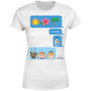 Frozen I Love Heat Emoji Women's T-Shirt - White