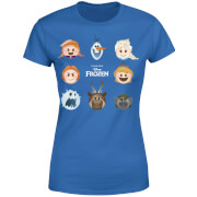 Frozen Emoji Heads Women's T-Shirt - Royal Blue