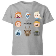 Frozen Emoji Heads Kids' T-Shirt - Grey