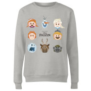 Frozen Emoji Heads Women's Sweatshirt - Grey
