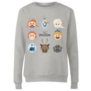 Frozen Emoji Heads Dames Trui - Grijs
