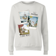 Frozen Olaf Polaroid Women's Sweatshirt - White