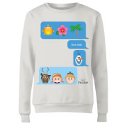 Frozen I Love Heat Emoji Women's Sweatshirt - White