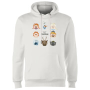 Frozen Emoji Heads Hoodie - White