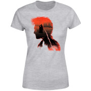 Harry Potter Harry Silhouette Battle Women's T-Shirt - Grey