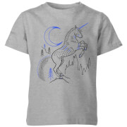 Harry Potter Unicorn Line Art Kids' T-Shirt - Grey