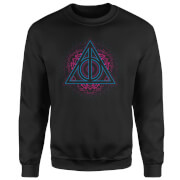 Harry Potter Neon Deathly Hallows Sweatshirt - Black