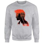 Harry Potter Harry Silhouette Battle Sweatshirt - Grey