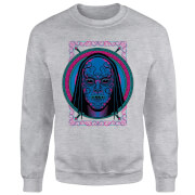 Harry Potter Neon Death Eater Mask Sweatshirt - Grey