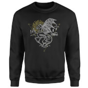 Harry Potter Thestral Line Art Sweatshirt - Black