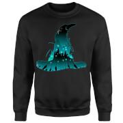 Sweat Homme Silhouette de Poudlard - Harry Potter - Noir