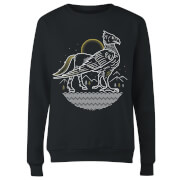 Harry Potter Buckbeak Line Art Women's Sweatshirt - Black