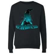 Harry Potter Hogwarts Silhouette Women's Sweatshirt - Black
