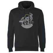 Harry Potter Buckbeak Line Art Hoodie - Black