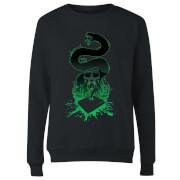 Harry Potter Basilisk Silhouette Women's Sweatshirt - Black