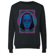 Harry Potter Neon Death Eater Mask Women's Sweatshirt - Black